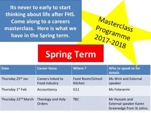 Careers Masterclass Programme