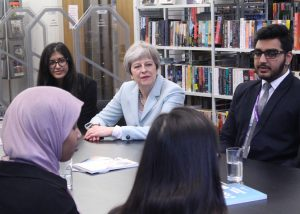 Prime Minister and Education Secretary Visit FHS