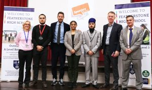 Jamie Redknapp and CEO of Sky Jeremy Darroch visit FHS